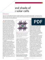 The Light and Shade of Perovskite Solar Cells