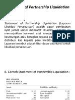 Statement of Partnership Liquidation