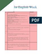 Script for English Week