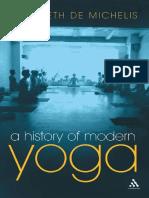 A History of Modern Yoga - De Michelis, E.