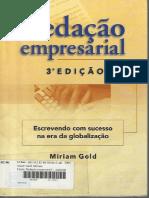 LIVRO Redacao Empresarial 3edicao Mirian Gold