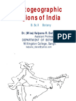 Phytogeographic Regions of India