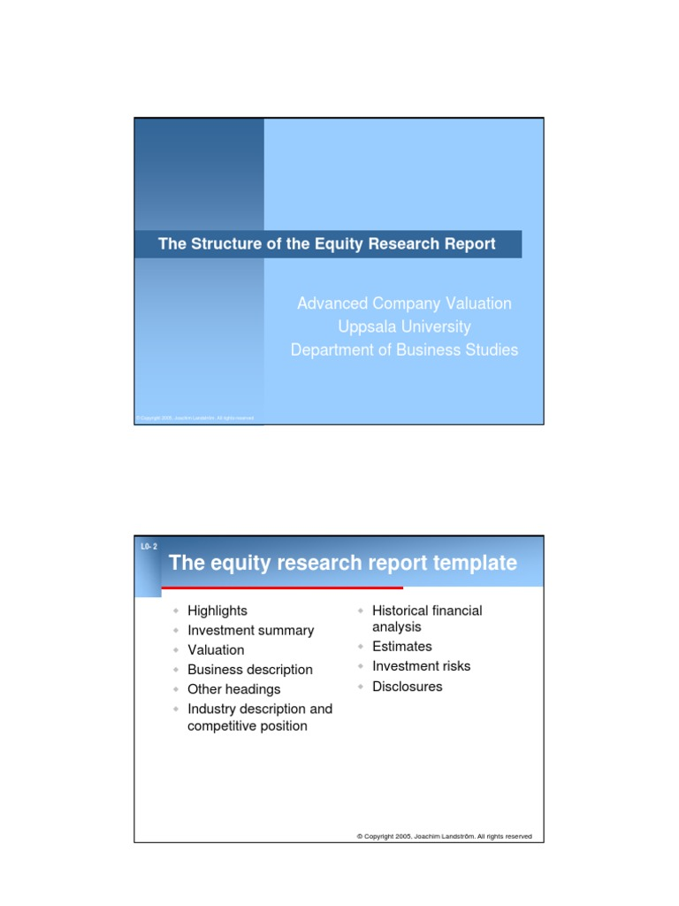 The structure of the equity research report leverage finance the structure of the equity research report leverage finance valuation finance accmission Choice Image