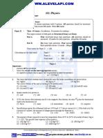 Physics New Paper Structure English Medium AlevelApi