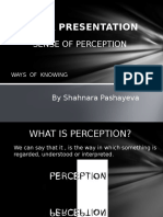 SENSE of PERCEPTION TOK (Not Complete) Individual Presentation1-1