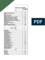 A.S.infra Material List