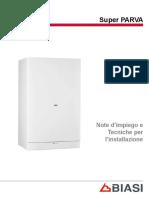 SAVIO Scheda Tecnica Caldaia a Gas SUPER PARVA 24S 28S 32S