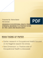 Advances in Occupational Health