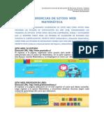 Sugerencias de Sitios Web Matemática