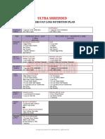 ULTRA SHREDDED Nutrition Plan by GM Nutrition