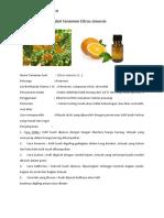 Citri Fructus Cortex Dari Tanaman Citrus Sinensis