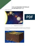 Aplicaciones de Las Funciones Vectoriales en La Fisica