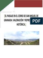 El Paisaje en El Cerro de San Miguel de Granada