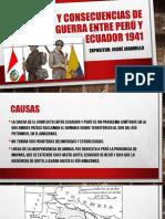 Causas y Consecuencias de La Guerra Entre Perú 1941