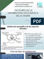 Factores de La Distribución Geográfica de La Fauna