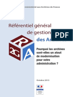 Referentiel General de Gestion Des Archives R2GA - Octobre 2013