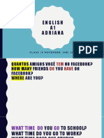 Adriana - Lesson 18 - November, 02nd