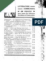 A. Glebov (Nikolaj Pavlovič Avilov), Les syndicats russes et la révolution. Préface de Boris Souvarine. (Bibliothèque Communiste, Paris 1920)