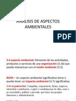 ASPECTOS  AMBIENTALES ANÁLISIS