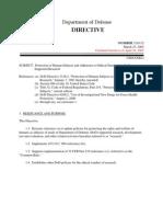 Wolfowitz  Human Experimantation Directive 25Mar02