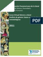 Curso Virtual Género y Salud Análisis de género