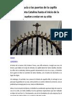La Cruz de la Puerta de la Capilla