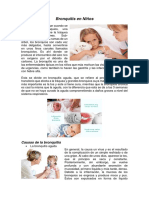 Bronquitis en Niños