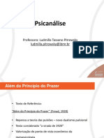Psicanálise - Além do princípio do prazer PPT
