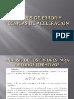 Analisis de Error y Tecnicas de Aceleracion