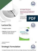 Strategic Management - Lec 6