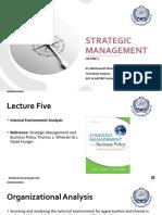 Strategic Management - Lec 5