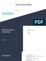 Python Features Overview