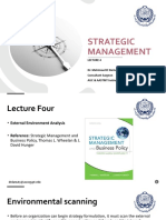 Strategic Management - Lec 4