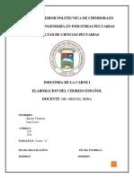 Informe 2 Chorizo Ahumado