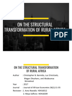 review jurnal On the Structural Transformation of Rural Africa - Pemper