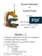 Research Methodology & Technical Writing