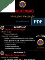 #3 MANUTENÇÃO - Tipos de Manutenção