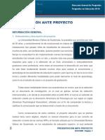 Dossier AnteProyecto