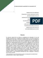 O Processo de Desenvolvimento Sustentável Na Construção Civil