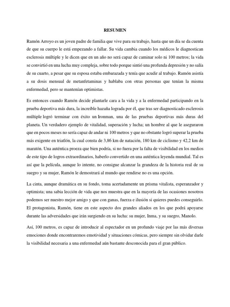 Resumen Pelicula 100 Metros