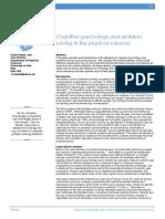 Cognitive Psychology and Problem Solving