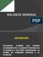 BALANCE GENERAL ESPECIFICACIONES.