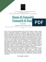 Convegno DES 2009 Danze di Comunità - Comunità di Danze