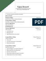 nb resume education based