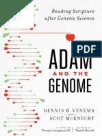 VENEMA, Dennis R. & McKNIGHT, Scot (2017). Adán y El Genoma. Leyendo La Escritura Después De