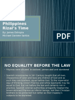 Philippines Rizal's Time