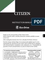 Manual Citizen Eco-Drive Titanium CA0024-55A