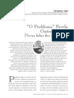 O Problema Favela Ontem e Hoje Novas Falas Dos Moradores