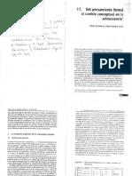 Carretero, M León, J. Desarrollo Psicológico y Educación. 'Del Pensamiento Formal Al Cambio Conceptual en La Adolescencia'