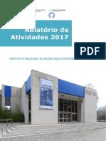 Relatório de Atividades 2017 - Instituto Nacional de Saúde Doutor Ricardo Jorge I.P.